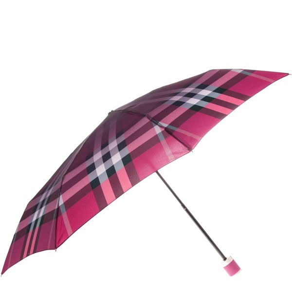 Burberry Pink Check Folding Umbrella