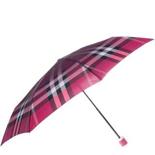 Burberry Pink Check Folding Umbrella