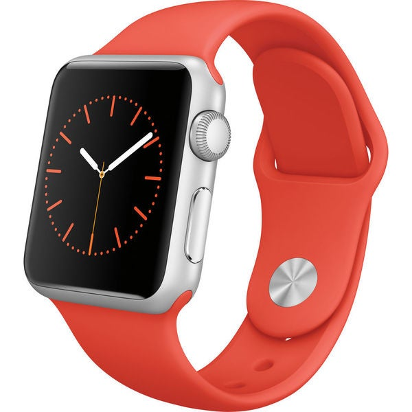 Apple Watch Sport 38mm Silver Aluminum Smartwatch with Orange Band