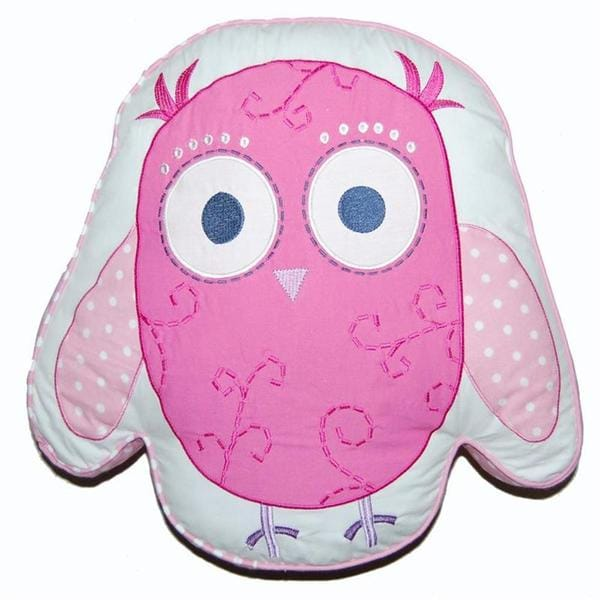 Pink Owl Decorative Pillow