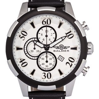 Balmer Mulsanne Men's Swiss-made Quartz Chronograph Watch with Richly Textured Dial and Super-LumiNova Hands
