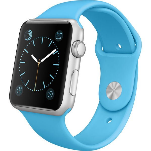 Apple Watch Sport 42mm Silver Aluminum Smartwatch with Blue Band