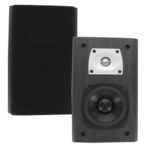 Theater Solutions B1 Bookshelf Speakers 400W Surround Home Theater Speaker Pair