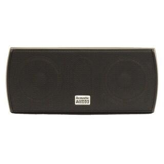 Acoustic Audio AA32CB Mountable Indoor Center Speaker 300-watt Black Bookshelf