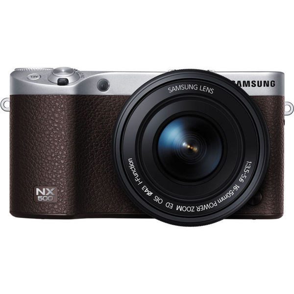 Samsung NX500 Brown Mirrorless Digital Camera with 16-50mm Power Zoom Lens