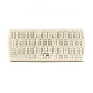 Acoustic Audio AA32CW Mountable Indoor Center Speaker 300-watt White Bookshelf