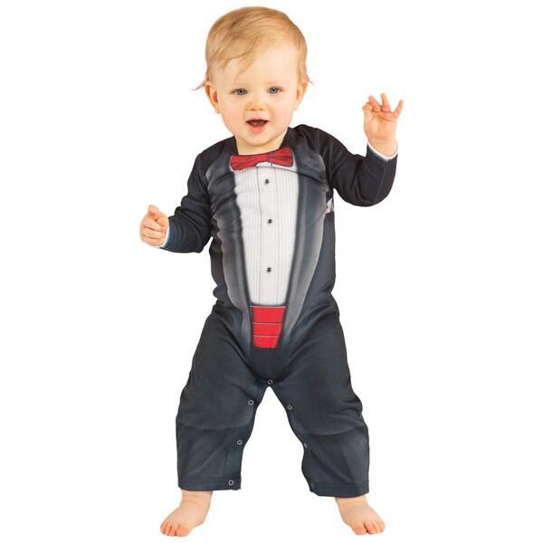 Infant Bow Tie Tux Romper