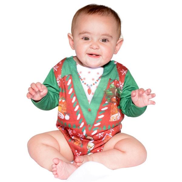 Infant Ugly Christmas Vest Romper