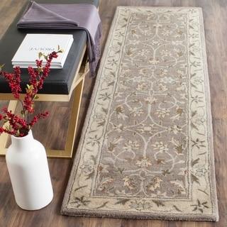 Safavieh Handmade Heritage Grey/ Beige Wool Rug (2'3 x 8')