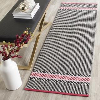 Safavieh Hand-Woven Montauk Light Pink/ Multi Cotton Rug (2'3 x 7')