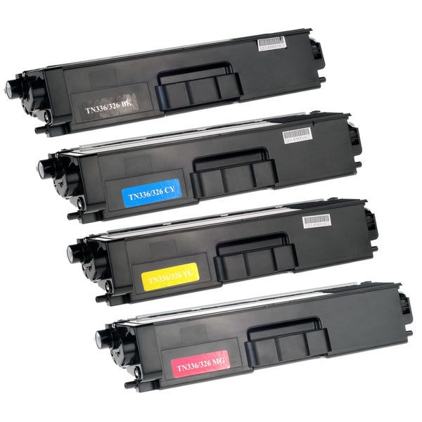 Compatible Brother TN331 TN336 KCYM Multi Color Laser Toner Cartridge (4-pack)