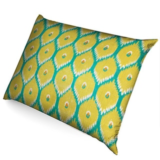 Lime Ikat Fleece Dog Bed