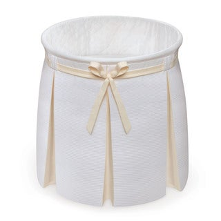Badger Basket Empress White/ Ecru Round Baby Bassinet