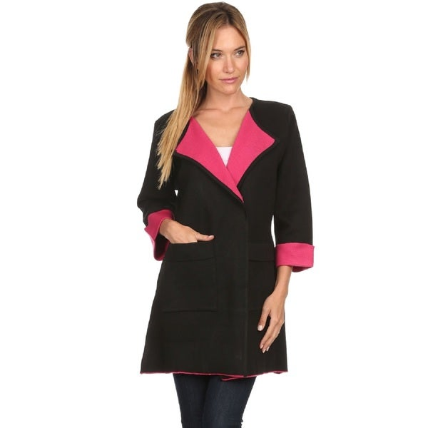 Women's Colorblock 2-button Cardigan