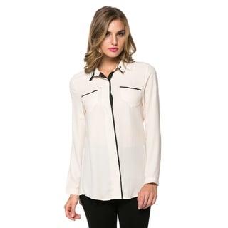 High Secret Women's Colorblock Long Sleeve Blouse