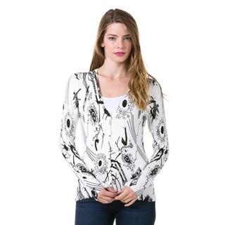 High Secret Women's Print Knit Cardigan