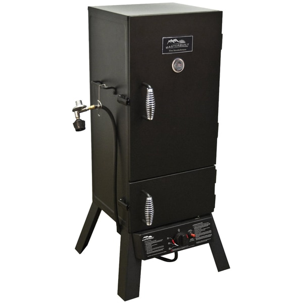 "MasterBuilt Sportsman Elite 30"" Gas Smoker With Push-button Ignition 17046137"