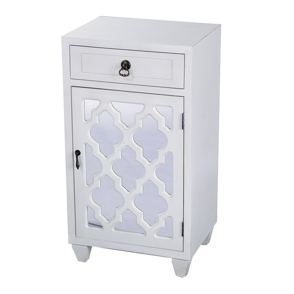 Single Drawer and Single Door Cabinet with Mirror Insert