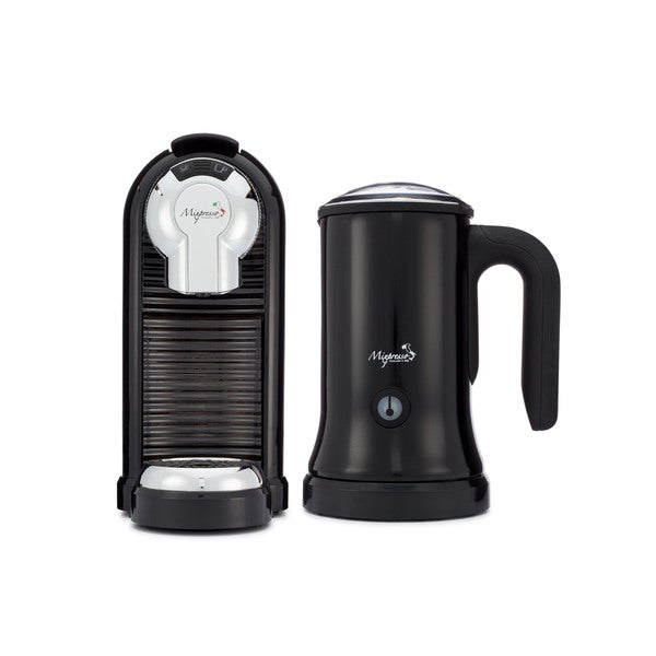 Espresso Machine & Milk Frother Set by Mixpresso's MILAN COLLECTION plus 20 Bonus Capsules