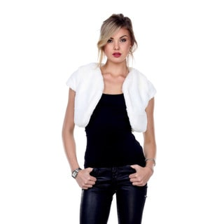 Stanzino Women's Plush Bolero Faux Fur Jacket