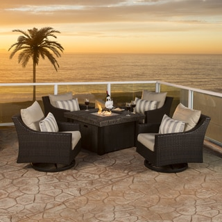 RST Brands Deco 5-piece Motion Fire Chat Set in Slate Grey