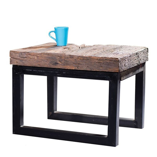 49 Coffee Table Nickel Finish Solid Iron Casters: Arbor Reclaimed Wood And Cast Iron Side Table