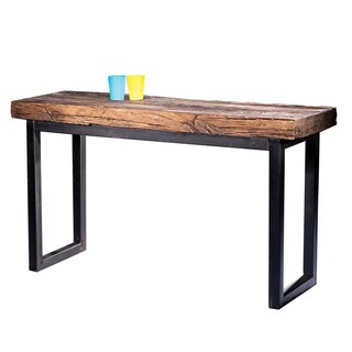 Arbor Reclaimed Wood and Cast Iron Console Table