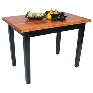 john boos cherry rn c3624c butcher block table with