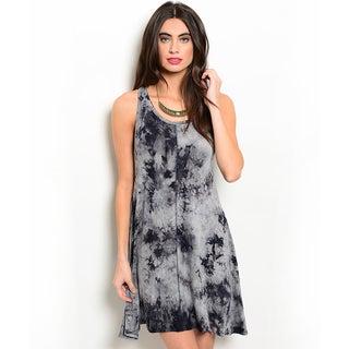 Shop the Trends Women's Tie-dye Sleeveless Round Neck Dress
