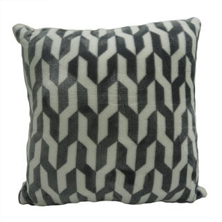 Etoile Printed Velvet Berber Pillows 18-inch 2 Pack