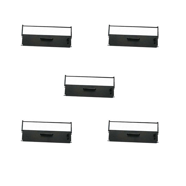 Compatible 5 Pack Black Ribbon Cartridges ERC-35B for use in Epson M875 Epson 875 ( Pack of 5 )