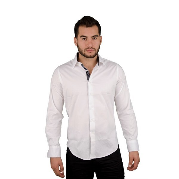 Men's Solid Casual Wine Button-down Shirt