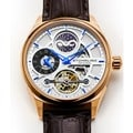 Stuhrling Original Men's Legacy Automatic Skeleton Brown Leather Strap Watch