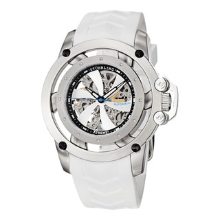 Stuhrling Original Men's Symphony Automatic Skeleton White Rubber Strap Watch