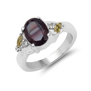 Malaika Sterling Silver Multi-gemstone Ring
