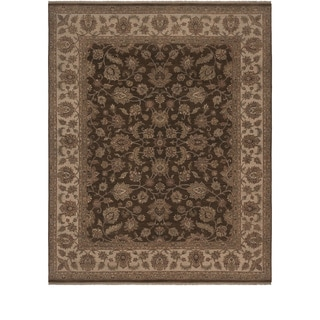 Hand Knotted Olivre Wool Rug (6' x 9')