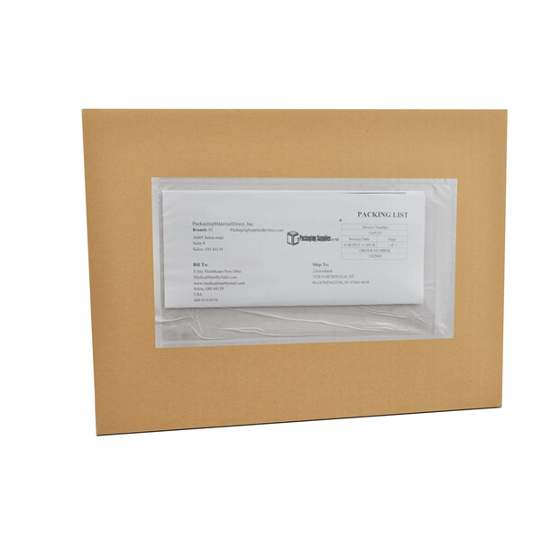 (1000) 5 x 10 Clear Plain Re-Closable Packing List Envelopes Bag Pack of 1000