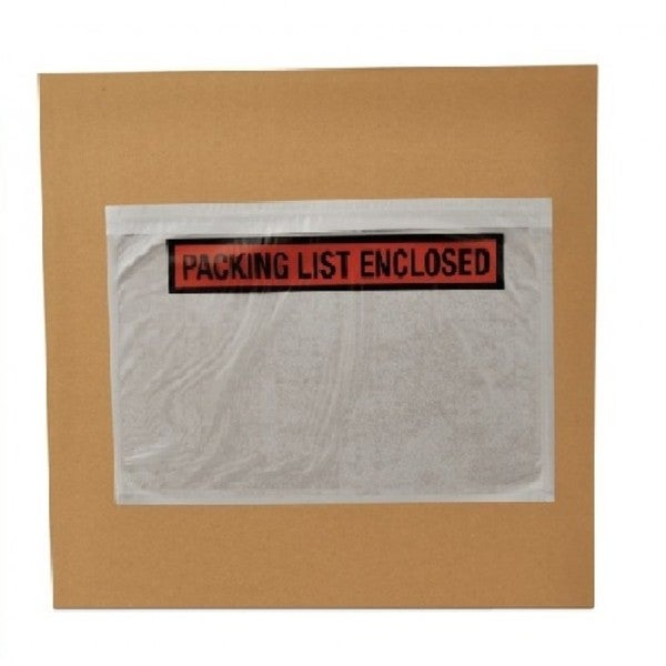 Packing List Enclosed Envelopes Panel Face 7.5 x 5.5-inch (Pack of 1000)
