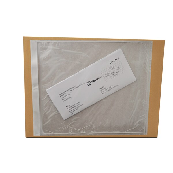 2000 9.5 x 12 -INCH CLEAR PACKING LIST ENVELOPES PLANE FACE-BACK SIDE LOADED