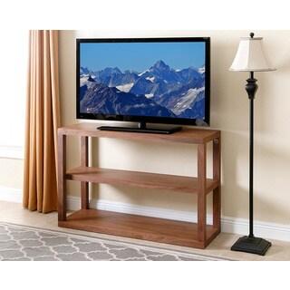 Abbyson Living Sonoma Walnut Wood 3-tier TV Stand