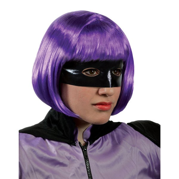 Kick-Ass 2 Hit Girl Purple Wig Short Mindy Macready Movie Costume