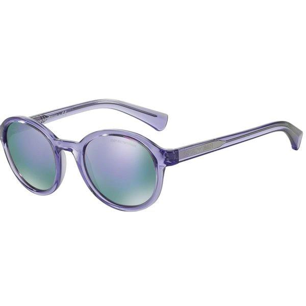 Emporio Armani Men's EA4054 Violet Plastic Square Sunglasses