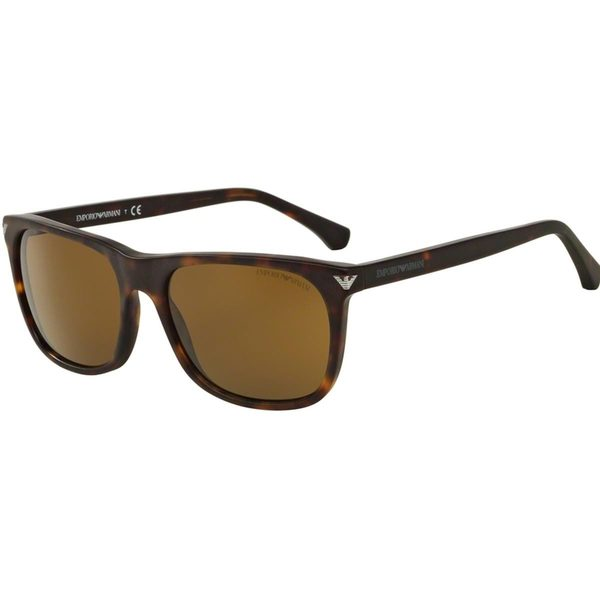 Emporio Armani Men's EA4056 Tortoise Plastic Rectangle Sunglasses