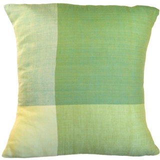 Green Color Block Large Pillow (India)