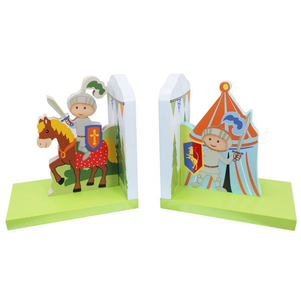 Fantasy Fields Knights and Dragon Bookends Set