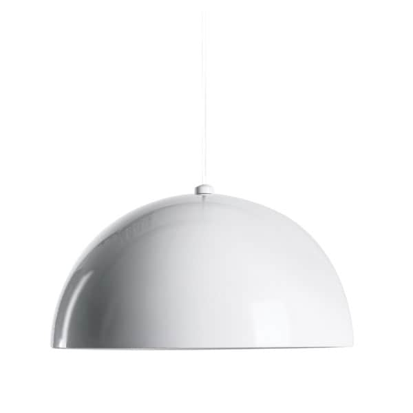 Alico Cupola 1 Light Large Pendant In Gloss White
