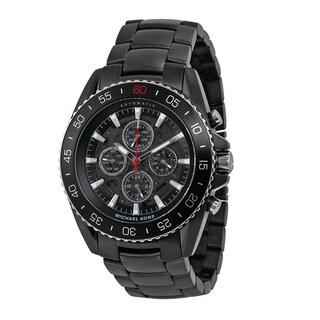 Michael Kors Men's MK8455 JetMaster Chronograph Black Dial Black Carbon Fiber Bracelet Watch