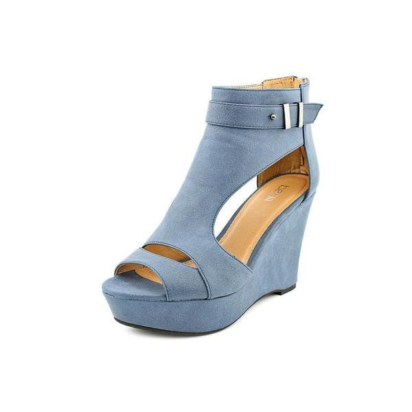 Bar III Women's 'Susie' Blue Faux Leather Sandals
