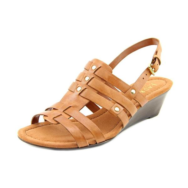 Ralph Lauren Women's 'Lucetta' Tan Leather Sandals