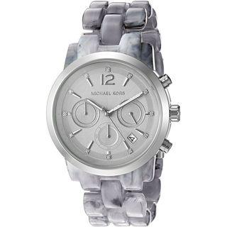 Michael Kors Women's MK6310 Audrina Grey Dial Grey Acetate Bracelet Watch
